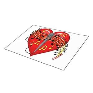 Asyouw Home Mat Music Notes Indoor Door Mat One size