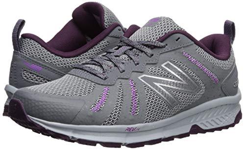 New Balance Women's 590v4 FuelCore Trail Running Shoe Gunmetal/Dark Current/Voltage Violet 5.5 B US by New Balance (Image #5)