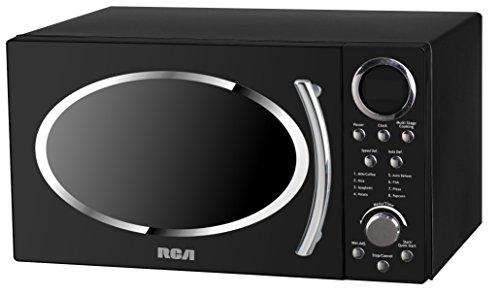 RCA RMW987-BLACK 0.9 cu. ft. Retro Microwave, Black by RCA