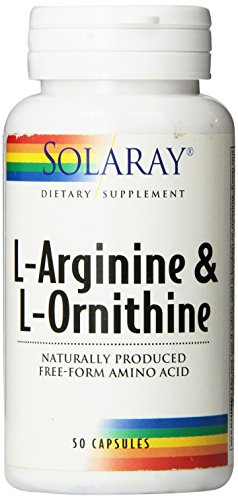 Solaray Free Form L-Arginine and Ornithine Capsules, 50 Count