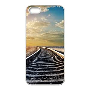 Railroad Horizon iPhone 4 4s Cell Phone Case White Exquisite gift (SA_488177)