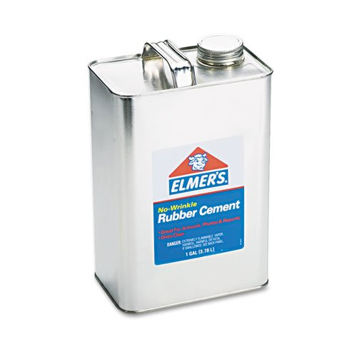 Rubber Cement, Repositionable, 1 gal, Sold as 1 Each by Elmer's