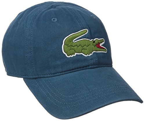 Lacoste Men's Big Croc Gabardine Cap, Legion Blue, for sale  Delivered anywhere in Canada