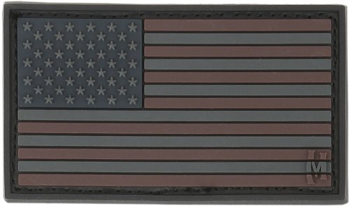 Maxpedition Gear Small USA Flag Patch, Stealth, 2 x 1-Inch