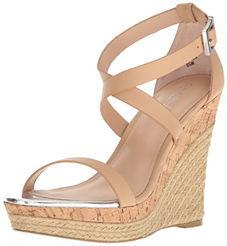 Charles by Charles David Women's Aden Wedge Sandal Nude