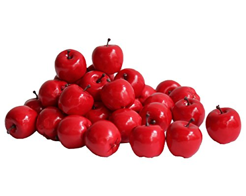Greencherry Artificial Lifelike Simulation Small Red Apples Christmas Tree Decoration Fake Fruit Pack of 30