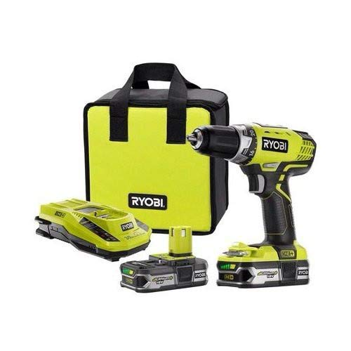 Ryobi ZRP818 18V ONE+ Lithium-Ion 1/2 in. Drill Driver Kit (Renewed)