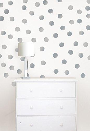 Wall Pops WPD1807 Metallic Silver Confetti Dots ()