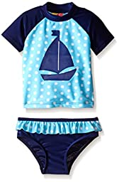 Sol Swim Baby Sail Away Rashguard Set, Blue, 24 Months