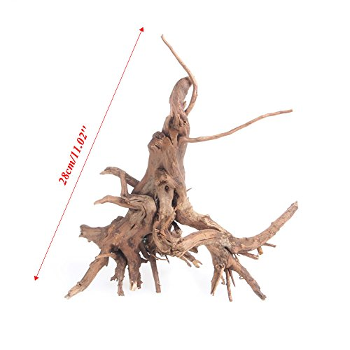 LAYs Aquarium Driftwood Wood Trunk Plant Stump for Fish Tank Ornament Landscaping (L)