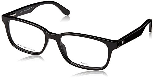 Tommy Hilfiger Plastic Rectangular Eyeglasses 53 0807 Black