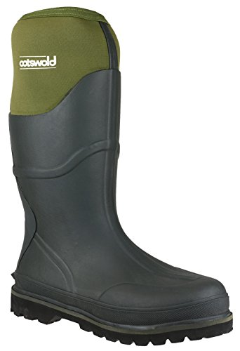 Cotswold Cotswold Mens Ranger Neoprene Expandable Welly Wellington Boot Green Green Rubber UK Size 12 (EU 47) by Cotswold