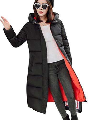Winter DianShao Coats Hooded Outwear Padded Jackets Warm Long Womens Orange Printing qwxYrawWXA