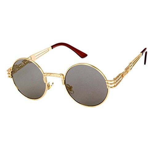 100% UV Protection,Fheaven Men Women Vintage Round Square Mirrored Sunglasses Eyewear Outdoor Sports Glasse - Popular Brands Eyewear