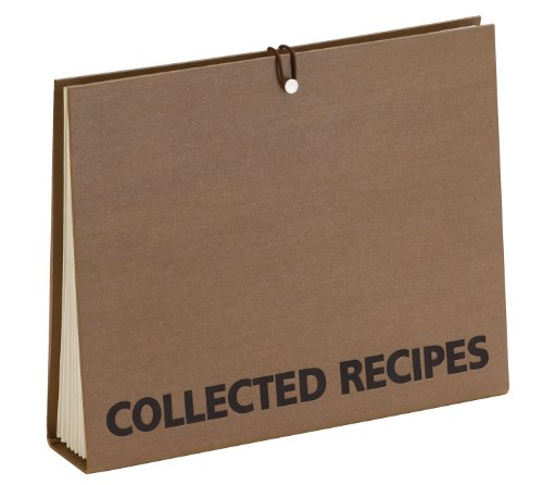 Meadowsweet Kitchens Accordion File Recipe Organizer - Brown (Recipe File)