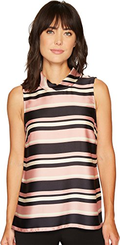 Vince Camuto Womens Sleeveless Modern Chords Roll Neck Tunic Iced Rose LG One Size Roll Neck Tunic