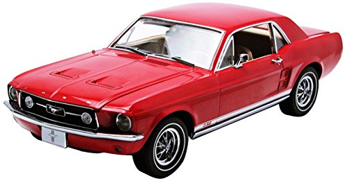 1/18 1967 Mustang Coupe in Candy Apple Red (Ford Color Code: 71528) with White Wall Tires.(キャンディアップルレッド×ホワイト) 50842