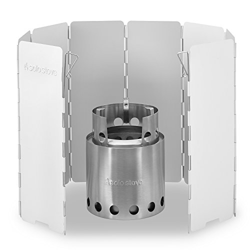 Solo Stove Wood Burning Emergency Stove w Aluminum Windscreen – Light Weight Compact Design Perfect for Survival, Camping, Hunting Backpacking.