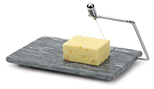 RSVP Polished 8 x 5 Grey Marble Board Cheese Slicer - Rsvp Cheese