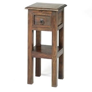 Jali Sheesham Lamp Telephone Table - Indian Wood Furniture