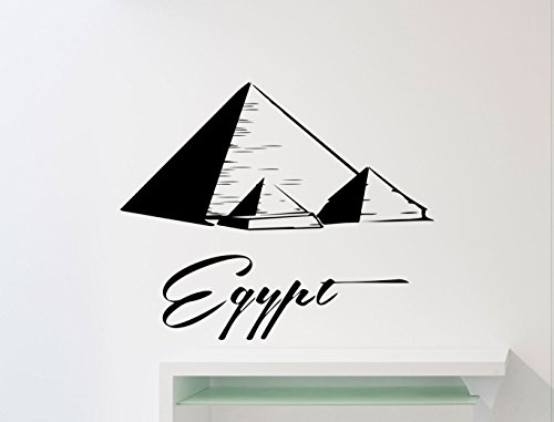 Egypt Wall Decal Logo Word Egypt Pyramids Vinyl Sticker Home Nursery Kids Boy Girl Room Interior Art Decoration Any Room Mural Waterproof Vinyl Sticker (174xx)