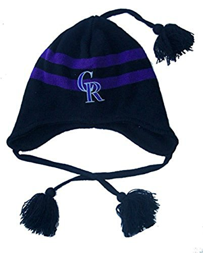 Colorado Rockies Toddler Knit Pom Beanie With Tassels Hat Cap Boys And Girls