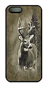 Covers Lone Buck Deer Custom PC Hard Case Cover for Ipod Touch 4 Black
