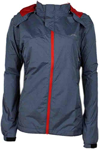 Team Storm Shelter - Asics Men's Storm Shelter Jacket, Slate/Red Heat, XX-Large