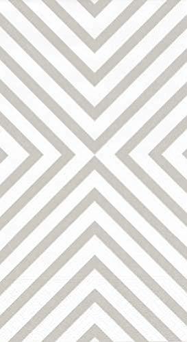 - Caspari Hand Towels or Paper Guest Towels Party Supplies 30 Count Chevron Silver