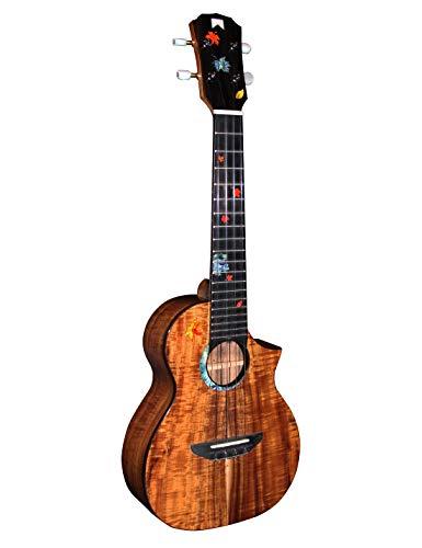 MrMai Ukulele MC-60 Concert Solid Koawood Handcraft 4 Strings guitar Gloss Finish With Hardcase