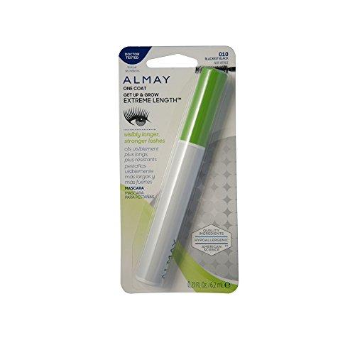 Almay One Coat Get Up & Grow Extreme Length Mascara, Blackest Black [010] 0.21 oz