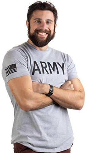 - Army PT Style Shirt | U.S. Military Physical Traning Infantry Workout T-Shirt-(Adult,L) Heather Grey