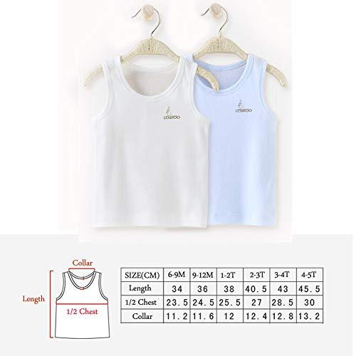 f3e34000a COBROO Newborn Baby Boy Tank Tops Cotton Sleeveless 2-Pack Cami Undershirt 2 -3T