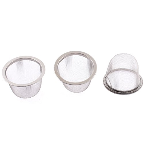 Dia Baskets (uxcell Stainless Steel Wire Mesh Tea Infuser Strainer Basket 63mm Dia 3 Pcs)
