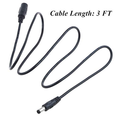 Price comparison product image SLLEA 3.3ft DC Extension Cable for Dunlop Cry Baby GCB-95 Crybaby Wah Pedal
