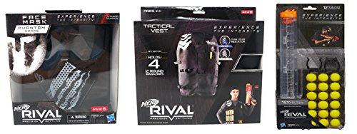 Nerf Rival Phantom Mask, Phantom Vest and 18 Ammo Bundle