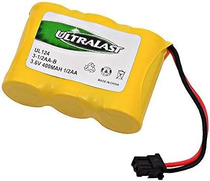 Batería de repuesto para Panasonic KX-A36 A – Teléfono inalámbrico 3 – 1/2AA W/Mitsumi – Batería (3.6 V 400 mAh): Amazon.es: Electrónica