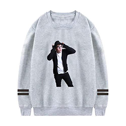 MARI WW Fall_Out_Boy Mens Hoodies 3D Printing Hooded Sweatshirts Round Neck Pullover Gray (Oki Printing)