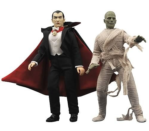 Universal Monsters Retro Series 2 Set of Both Cloth Figures Dracula The Mummy - Universal Monsters Retro Cloth