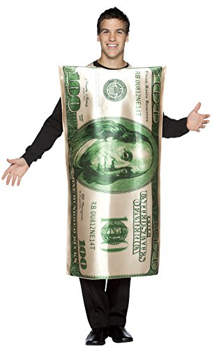 UHC Ben Franklin 100 Dollar Bill Outfit Funny Theme Party Costume, OS