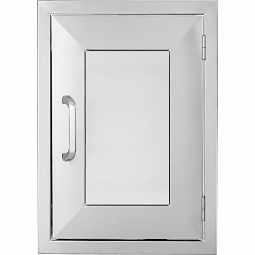 BBQGuys.com Kingston Panel Series 17-inch Stainless Steel Right-hinged Single Access Door - (Right Hinged Stainless Single)