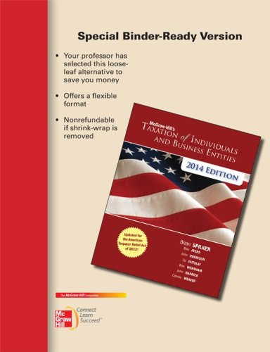 Loose-leaf for McGraw-Hill's Taxation of Individuals and Business Entities, 2014 Edition