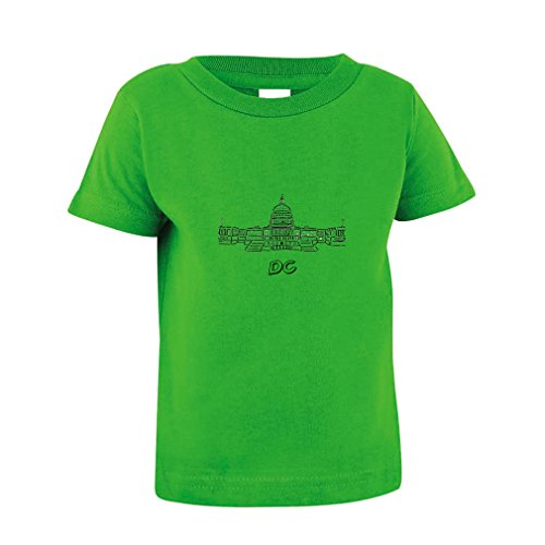Washington Dc Capital Toddler Baby Kid T Shirt Tee Apple Green 18 Months