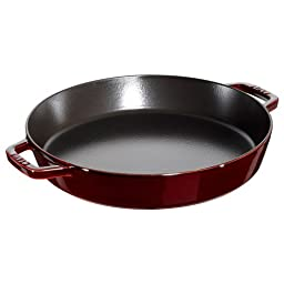 Staub Double Handle Fry Pan, Grenadine, 13\