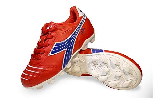 Diadora Kids' Cattura MD Jr Soccer Shoe (9 Toddler, Red/Royal/White) (Toddler Soccer Shoes Girl)