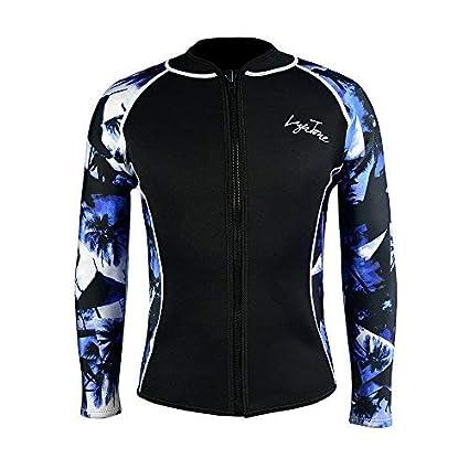 Layatone Wetsuit Top Women Men Premium 3mm Neoprene Diving Suit Jacket for  Women - Wetsuit Jacket Long Lycra -Sleeves Diving Surfing Snorkeling Top -  Wet ... 5bcb37231