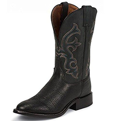 Tony Lama Mens Crowell Black 11 Height (7939) | Spalla Nera Con Piede Nero | Stivali Western Pullon | Stivale Di Pelle Di Cowboy Nero | Fabbricato Negli Usa