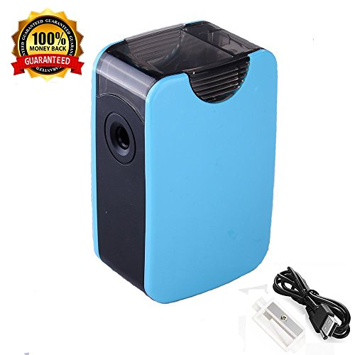 Automatic Electric Cutter - Pencil Sharpener, TopRay Electric Pencil Sharpener USB or Battery Operated Colored Pencils Sharpener Automatic Pencil Cutter for Pencils 6.5-8.0mm with Replacement Blades (Blue)