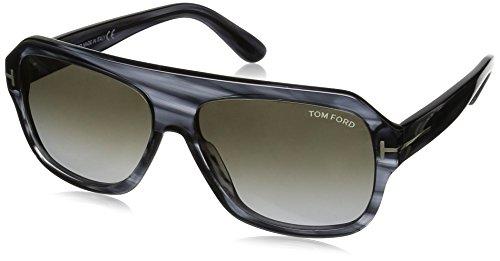 Tom Ford - OMAR FT 0465,Géométriques acétate homme 20B: Grey