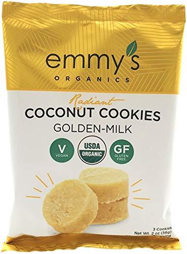 Emmy's Organics Coconut Cookies, Radiant Golden-Milk, 2 oz (Pack of -